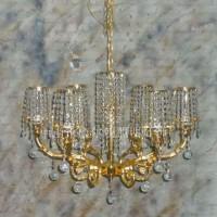 新古典欧式水晶吊灯客厅卧室餐厅复式楼吊灯砂金仿古美式灯具