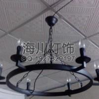 广东中山横栏镇厂家定制酒店欧式铁艺水晶吊灯