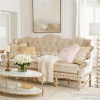 米白黄色欧式沙发 高品质欧式布艺沙发 奢华布艺沙发欧式新款定