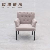 上海婚纱影楼接待椅 客厅卧室沙发椅 酒店布艺沙发椅 实木麻将椅