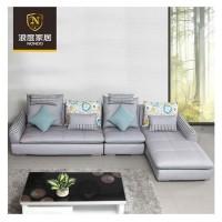 浪度家居 时尚客厅转角布艺沙发组合现代简约大小户型布艺沙发