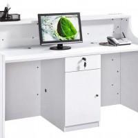 前台烤漆吧台桌接待台办公桌迎宾台咨询台简约柜台办公家具特价
