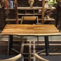 供应家有名木南美胡桃木全烘干实木大板现代简约生态美式欧式家装设计师桌家具餐桌办公桌会议桌大班台