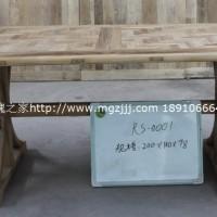 玫瑰之家餐桌椅老榆木餐桌纯实木饭桌写字台办公桌**定做
