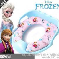 韩国进口 Frozen 冰雪奇缘 儿童马桶 坐便器 坐便圈 带把手超可爱