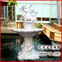 艺染林雕塑定做 玻璃钢喷泉 玻璃钢欧式风格喷泉摆件 玻璃钢雕塑 雕塑价格咨询