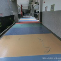 广东深圳走廊铺PVC塑胶地板  防火 走廊专用耐磨胶地板 幼儿园专用PVC胶地板