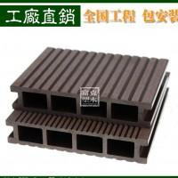 户外 空心栗色木塑地板 塑木板安装 栈道工程地板 施工塑木地板