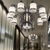【 定制】优雅传统复古铁艺吊灯,纯手工艺术灯饰酒店工程定制