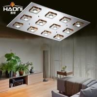 客厅灯现代简约水晶灯 超薄led吸顶灯正方形创意卧室餐厅灯具