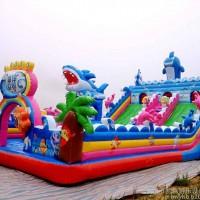 豹伟支架水池 充气水滑梯水上乐园规划 鲨鱼波浪滑梯