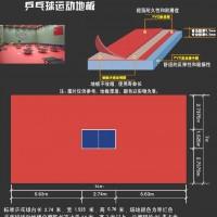 供应乒乓球比赛专用地板、塑胶运动地板、卷材PVC地板、弹性地板