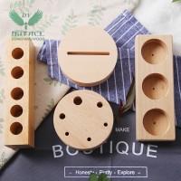 新款木质手机底座 时尚实用型懒人手机支架底座 工艺木质品可定制