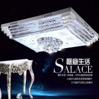 时尚水晶铝材客厅卧室书房方形吸顶灯 灯饰装饰 水晶吸顶灯