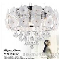 欧式LED水晶吊灯吸顶灯两用水晶灯具餐厅灯饰
