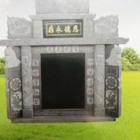 千艺石业 天然大理石墓碑芝麻黑墓群 复古石碑农村墓碑生产加工厂家