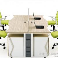 直销 公司简约办公桌 4人联合工作位 办公屏风 职员办公桌