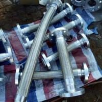 晖盛 水泵连接软管  不锈钢法兰金属软管  波纹编织高温金属软管 金属软管