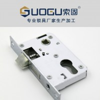 索固 专业五金生产直销 铝合金室内弹子插芯木门锁具卫浴门锁