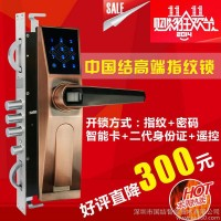 供应中国结智能锁指纹锁防盗门锁指纹密码锁别墅门锁CK905A