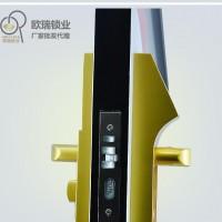 深圳欧瑞智能门锁生产OR6030-土豪金指纹锁防盗门锁